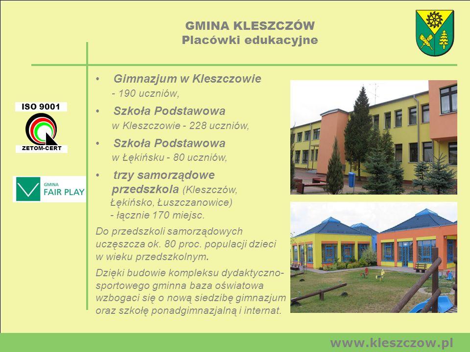 GMINA KLESZCZÓW Placówki edukacyjne