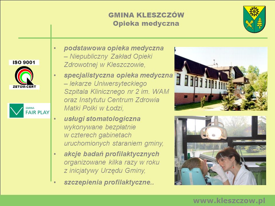 GMINA KLESZCZÓW Opieka medyczna