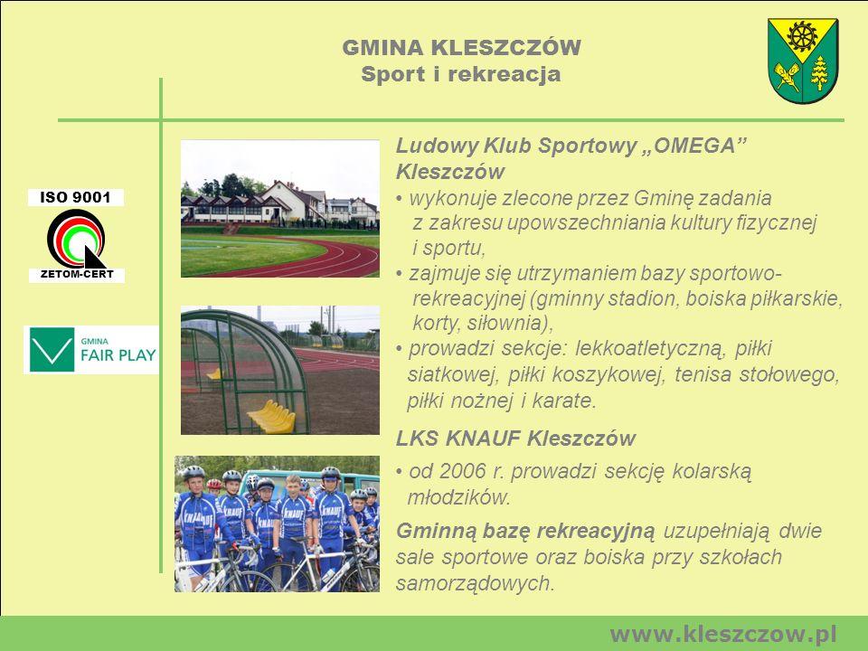 GMINA KLESZCZÓW Sport i rekreacja