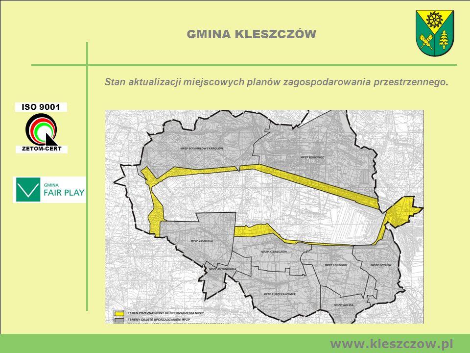 Stan aktualizacji miejscowych planów zagospodarowania przestrzennego.