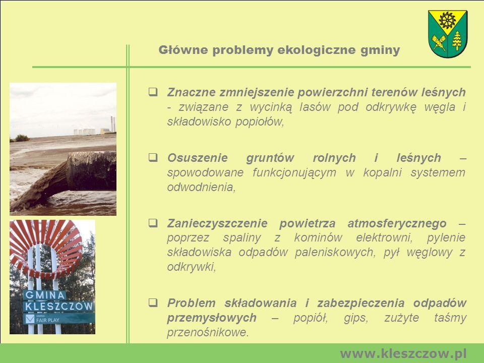 Główne problemy ekologiczne gminy