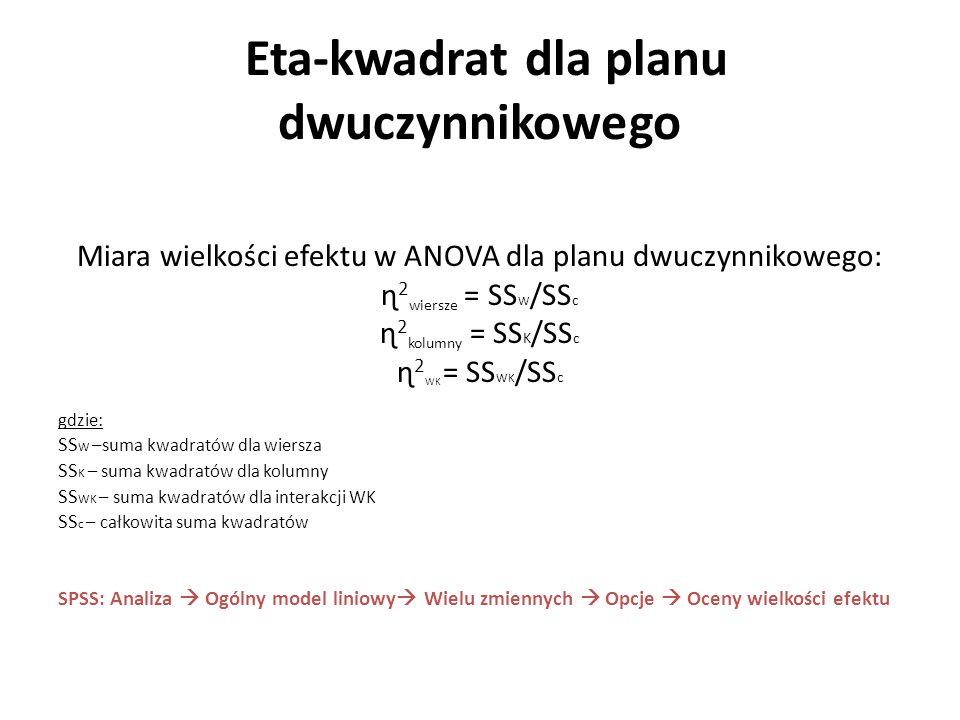 Eta-kwadrat dla planu dwuczynnikowego