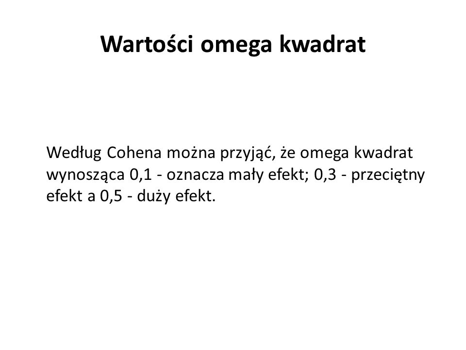 Wartości omega kwadrat