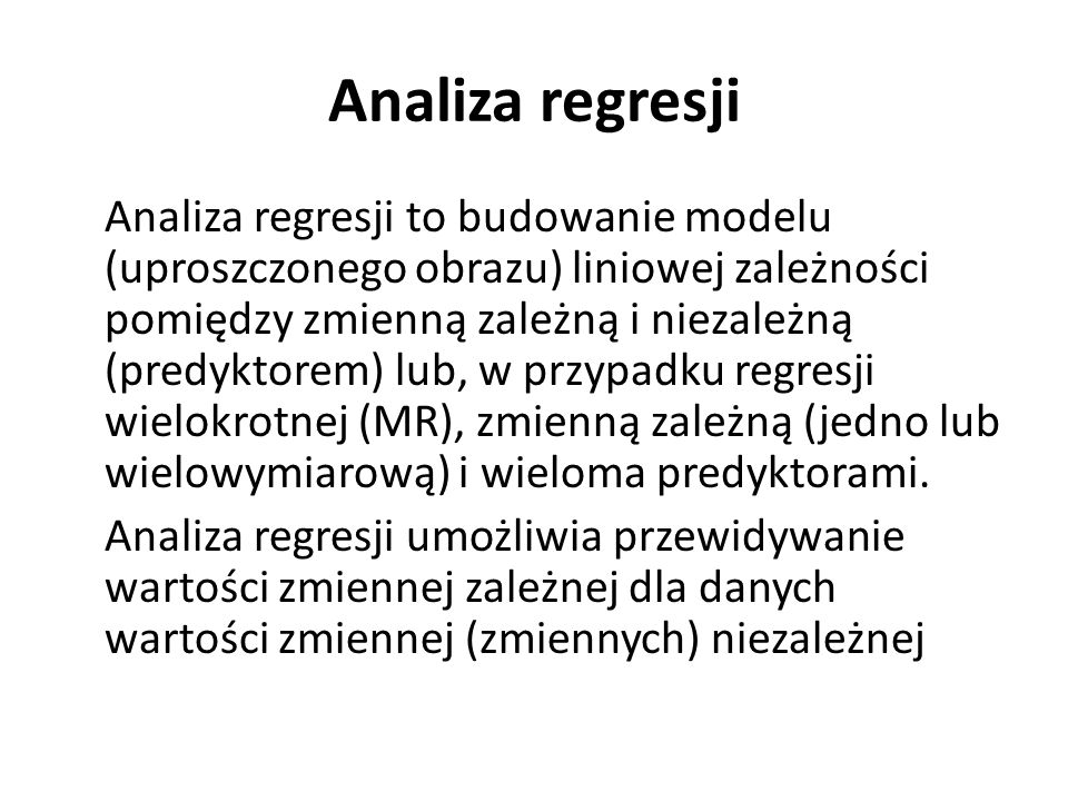 Analiza regresji