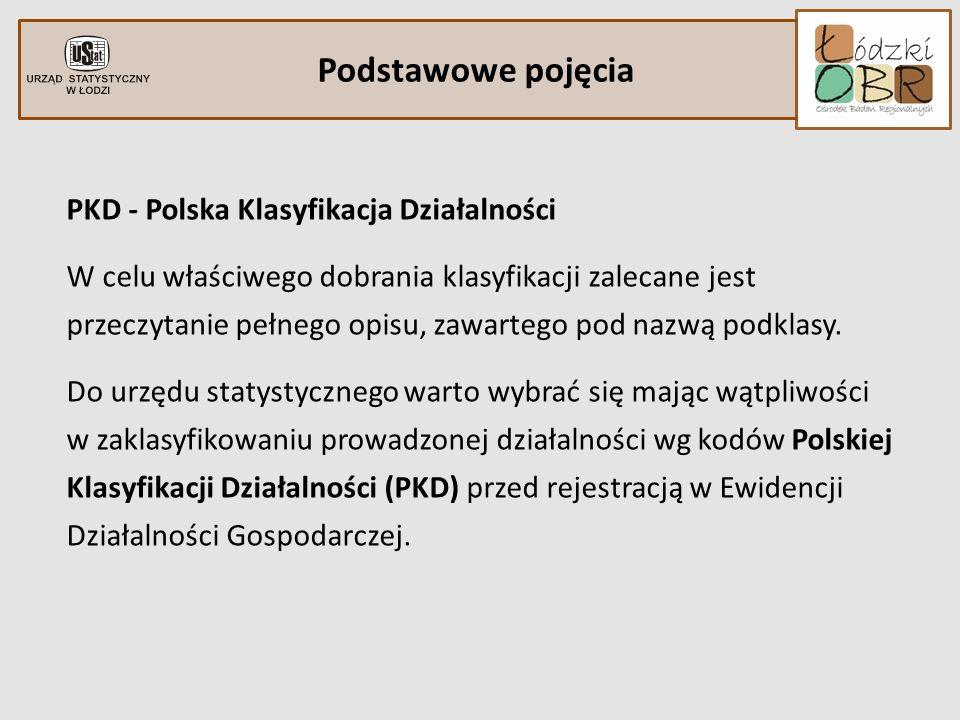 Podstawowe pojęcia PKD - Polska Klasyfikacja Działalności