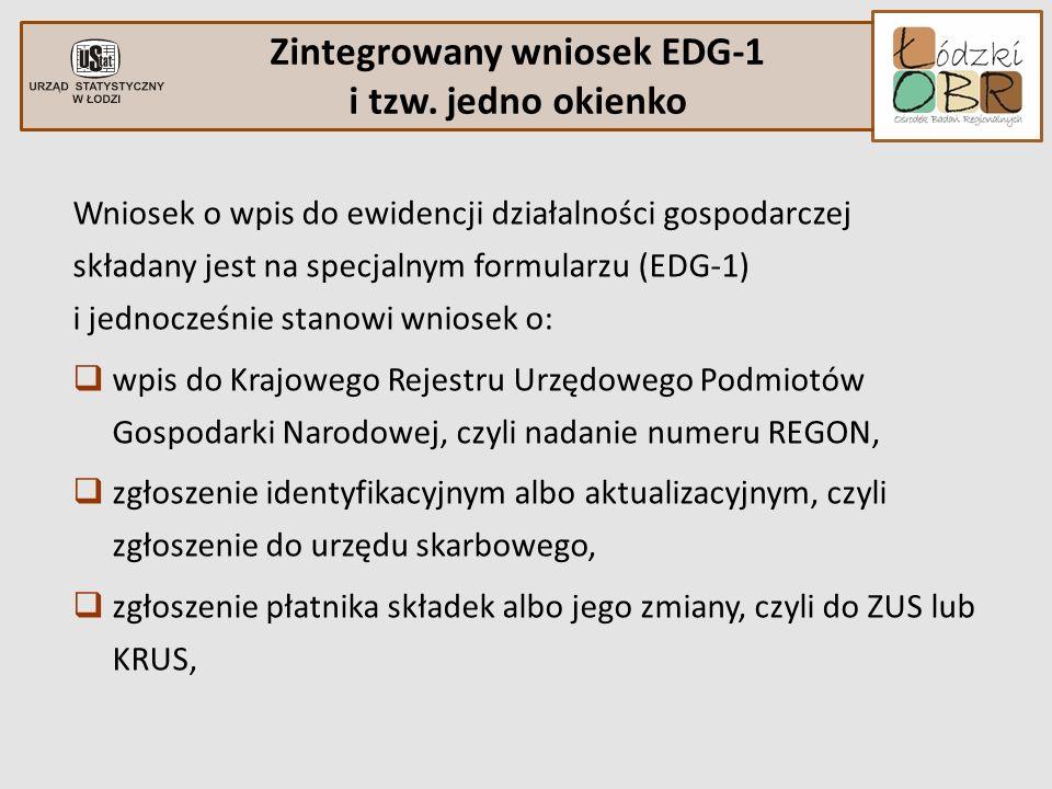 Zintegrowany wniosek EDG-1 i tzw. jedno okienko