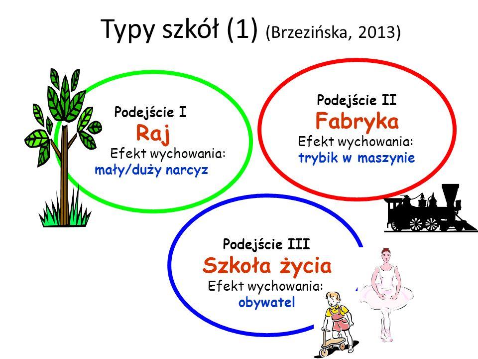 Typy szkół (1) (Brzezińska, 2013)