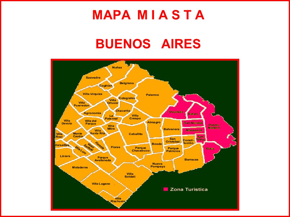 MAPA M I A S T A BUENOS AIRES