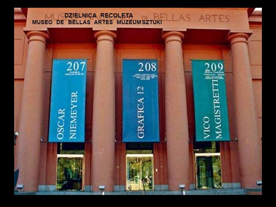 DZIELNICA RECOLETA MUSEO DE BELLAS ARTES MUZEUM SZTUKI