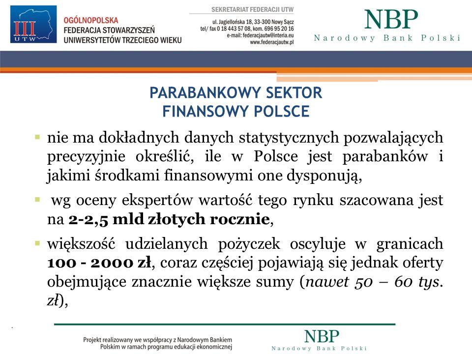 PARABANKOWY SEKTOR FINANSOWY POLSCE