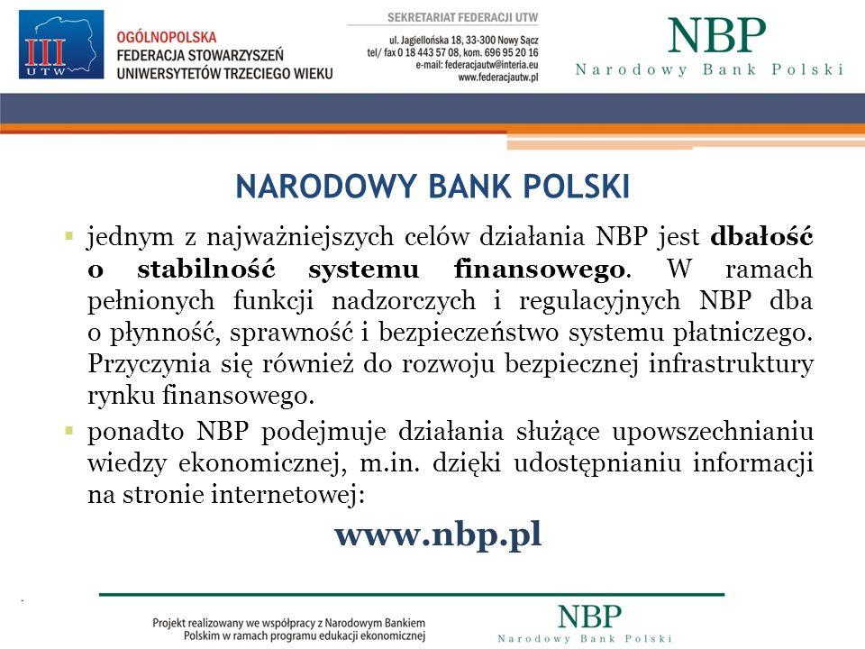NARODOWY BANK POLSKI www.nbp.pl