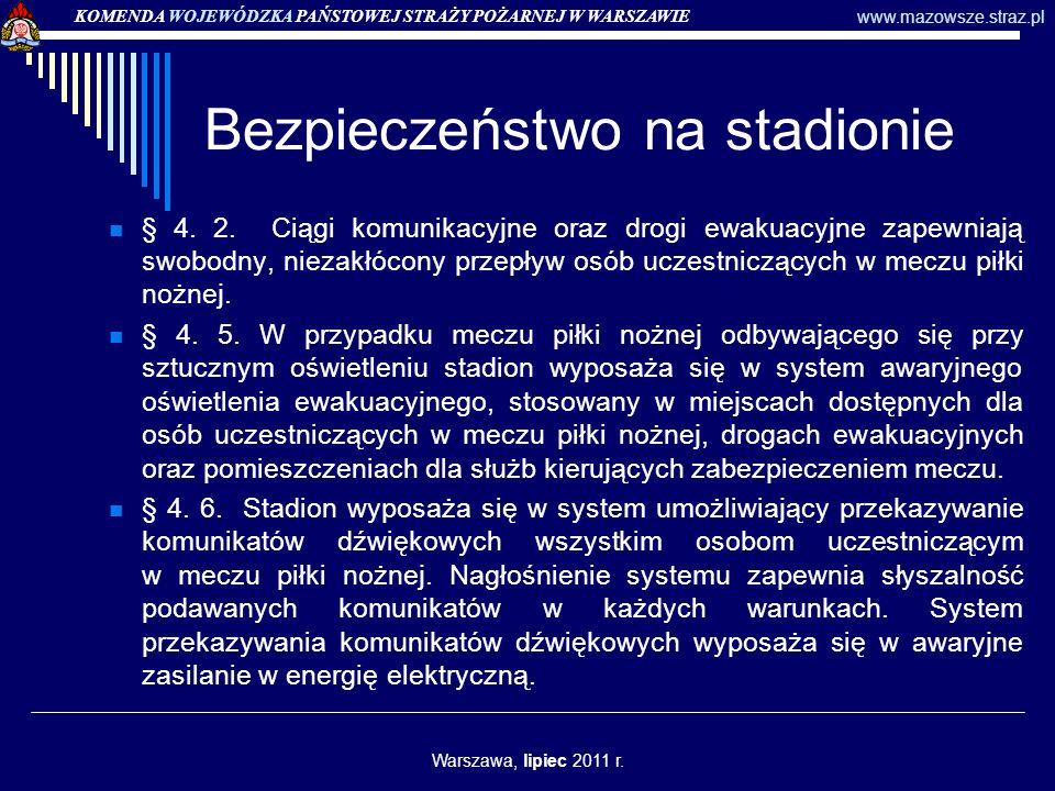 Bezpieczeństwo na stadionie