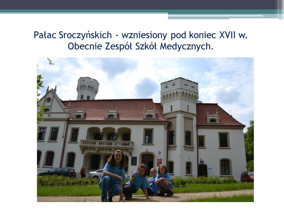Pałac Sroczyńskich - wzniesiony pod koniec XVII w