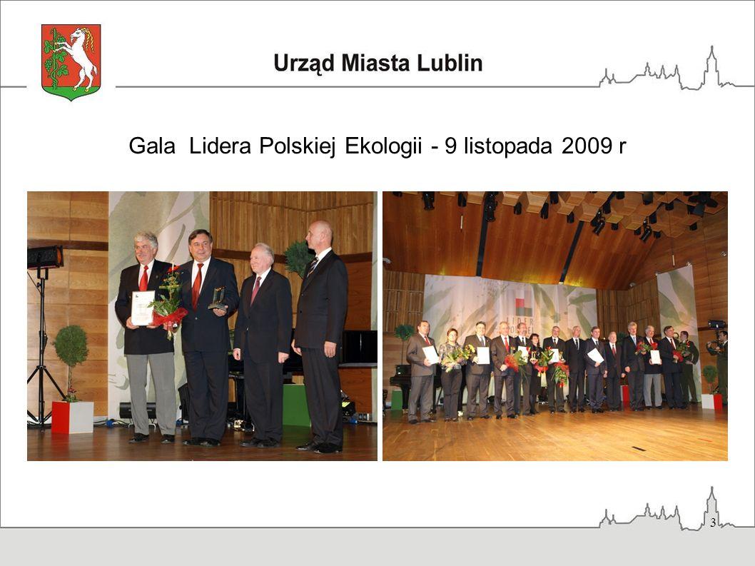 Gala Lidera Polskiej Ekologii - 9 listopada 2009 r