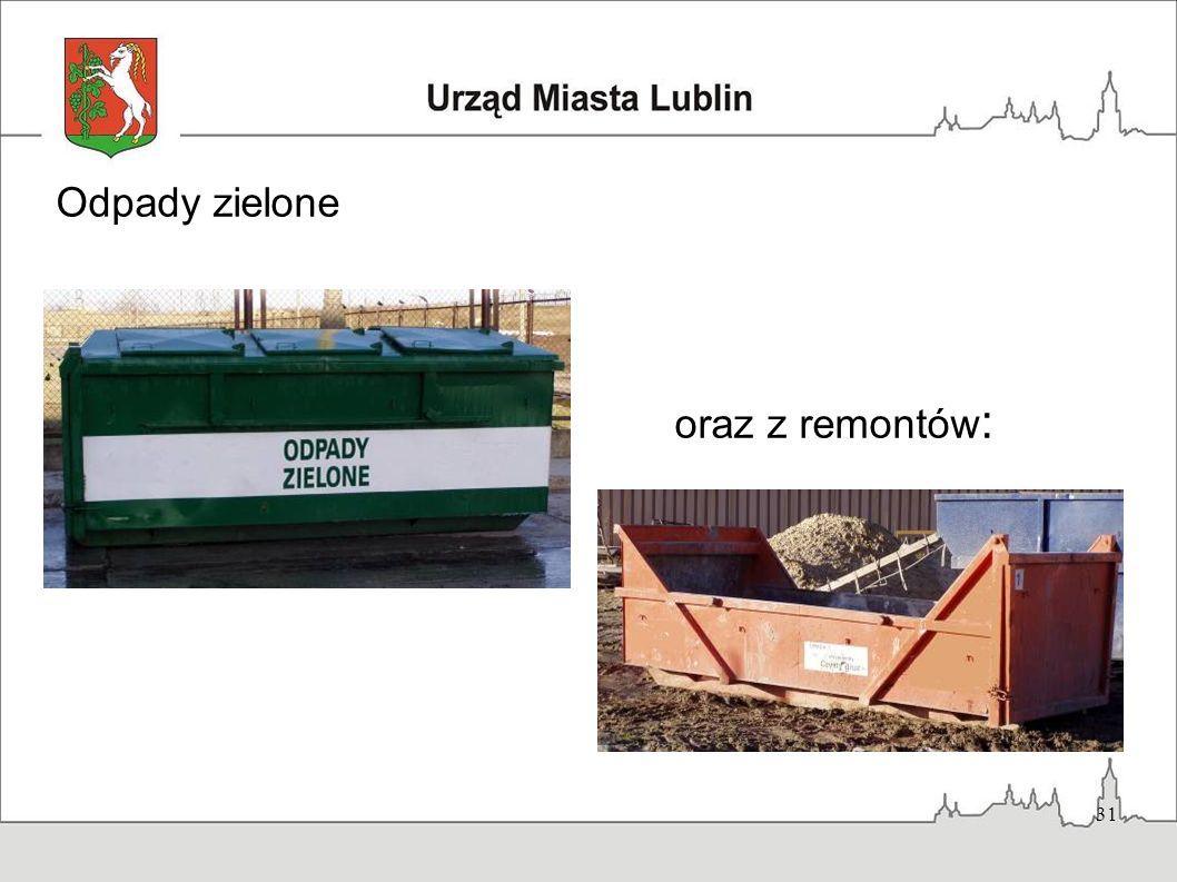 Odpady zielone oraz z remontów: