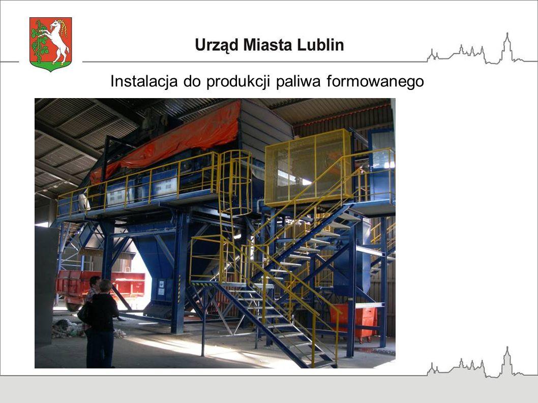 Instalacja do produkcji paliwa formowanego