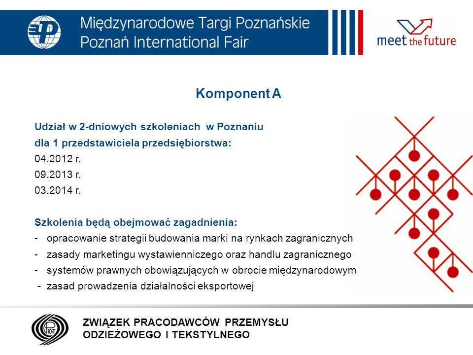 Komponent A 7.01.12 Udział w 2-dniowych szkoleniach w Poznaniu
