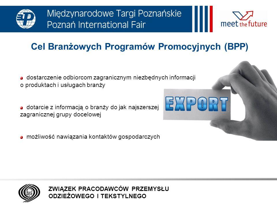 Cel Branżowych Programów Promocyjnych (BPP)
