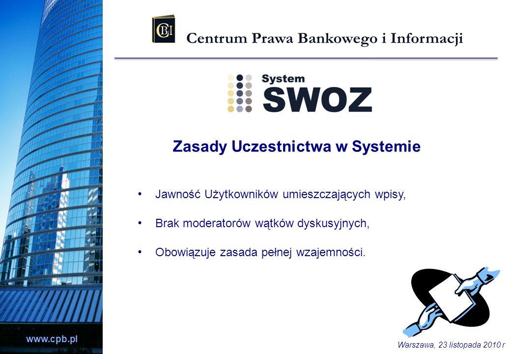 Zasady Uczestnictwa w Systemie
