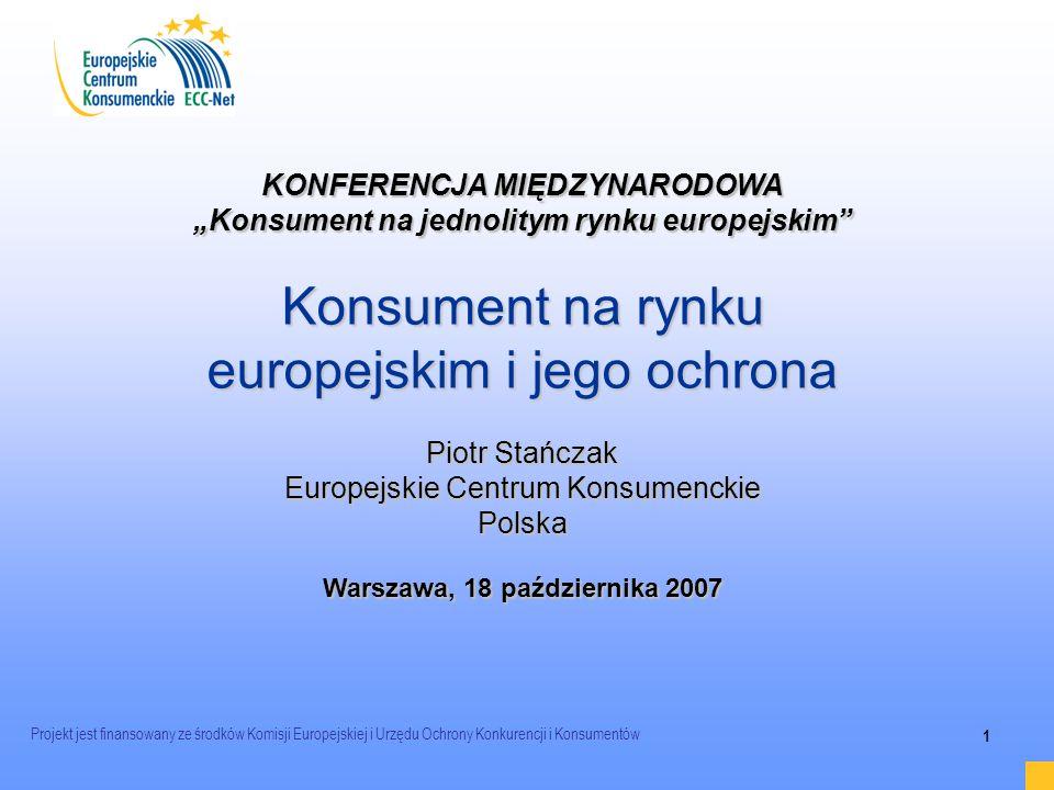 Konsument na rynku europejskim i jego ochrona