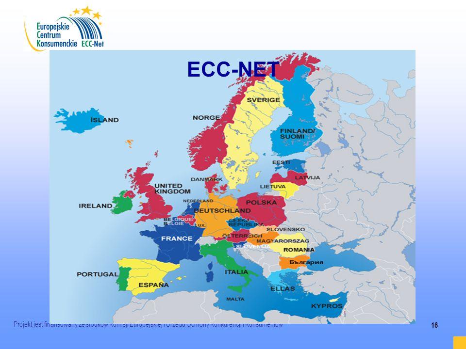 ECC-NETProjekt jest finansowany ze środków Komisji Europejskiej i Urzędu Ochrony Konkurencji i Konsumentów.