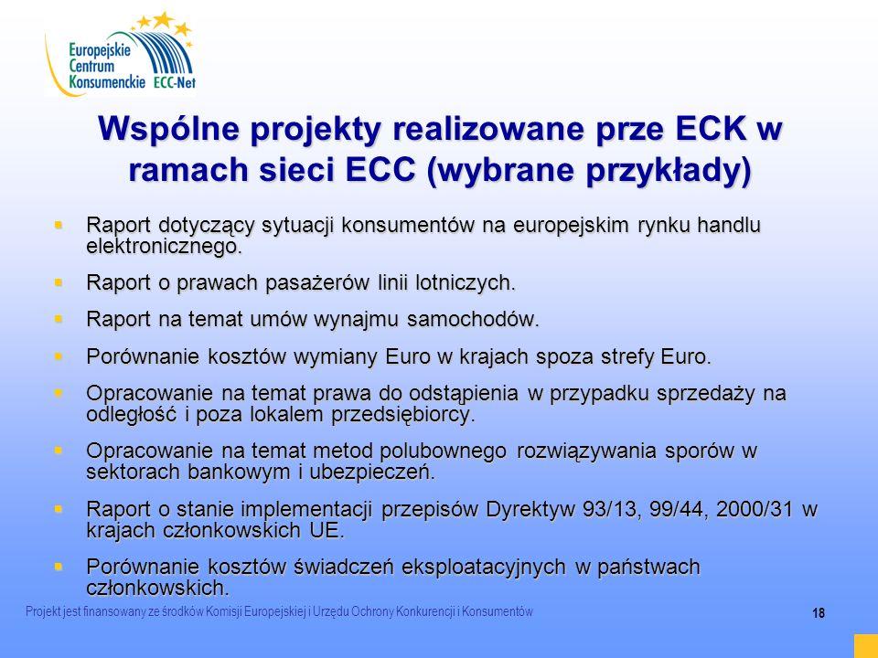 2017-03-24 Wspólne projekty realizowane prze ECK w ramach sieci ECC (wybrane przykłady)