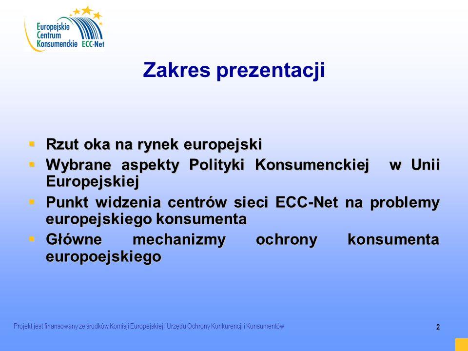 Zakres prezentacji Rzut oka na rynek europejski