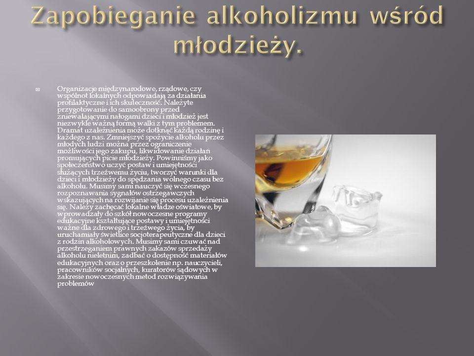 Zapobieganie alkoholizmu wśród młodzieży.