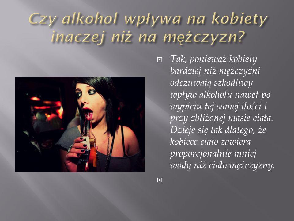 Czy alkohol wpływa na kobiety inaczej niż na mężczyzn