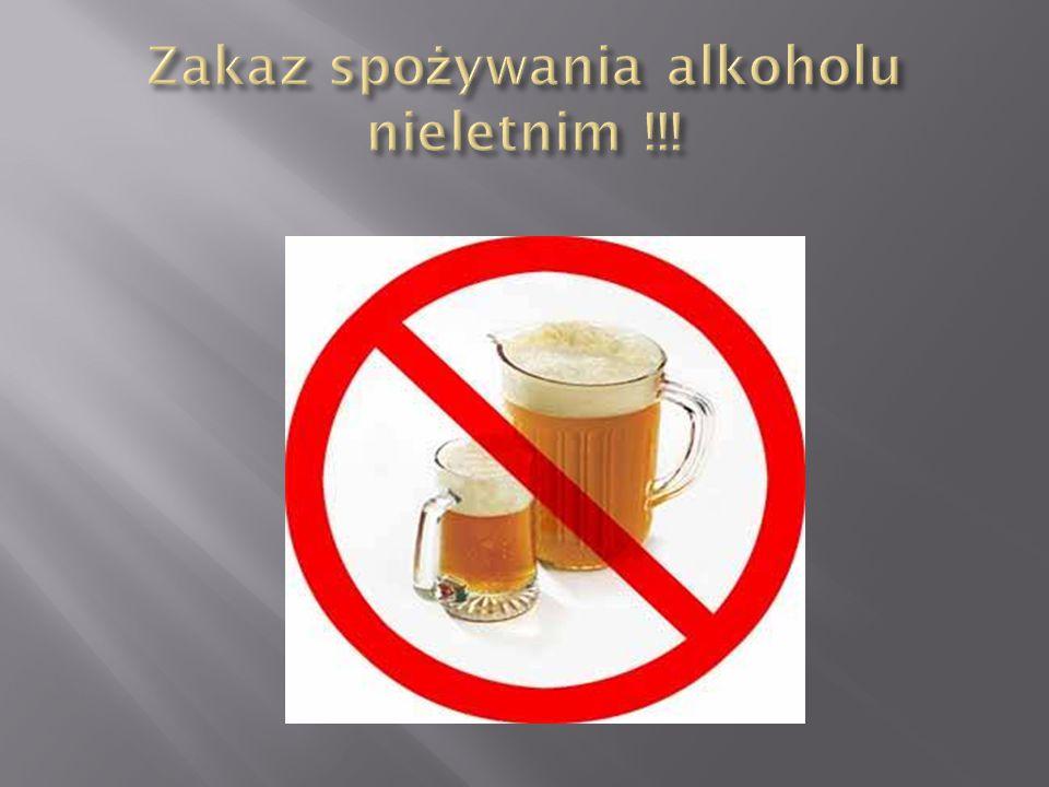 Zakaz spożywania alkoholu nieletnim !!!