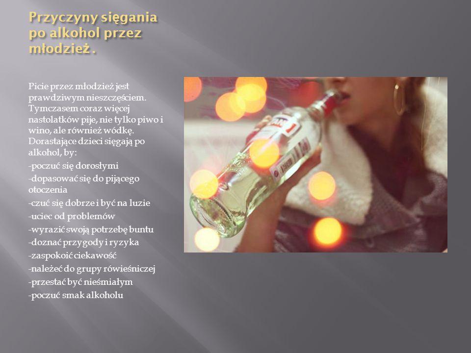 Przyczyny sięgania po alkohol przez młodzież .