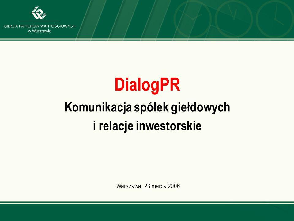 DialogPR Komunikacja spółek giełdowych i relacje inwestorskie