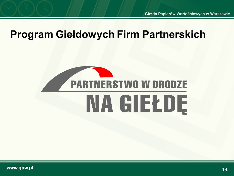 Program Giełdowych Firm Partnerskich