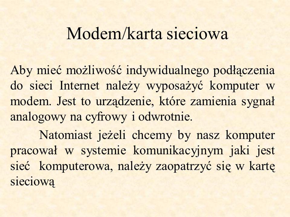 Modem/karta sieciowa