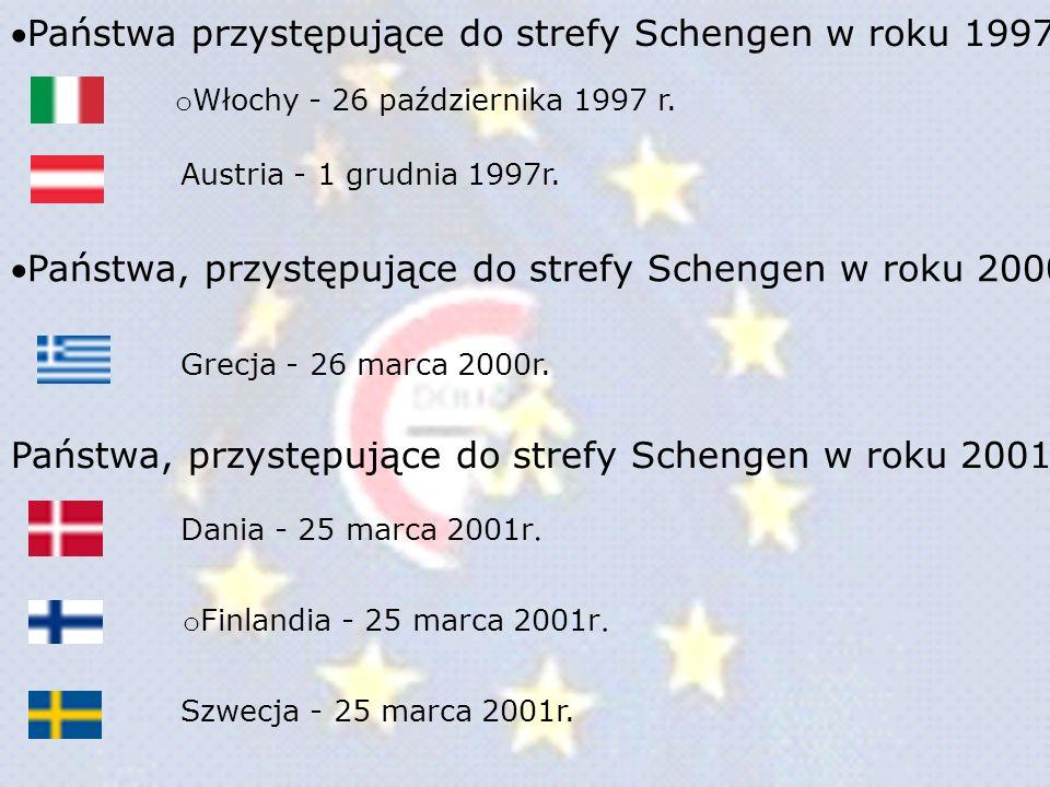 Państwa przystępujące do strefy Schengen w roku 1997