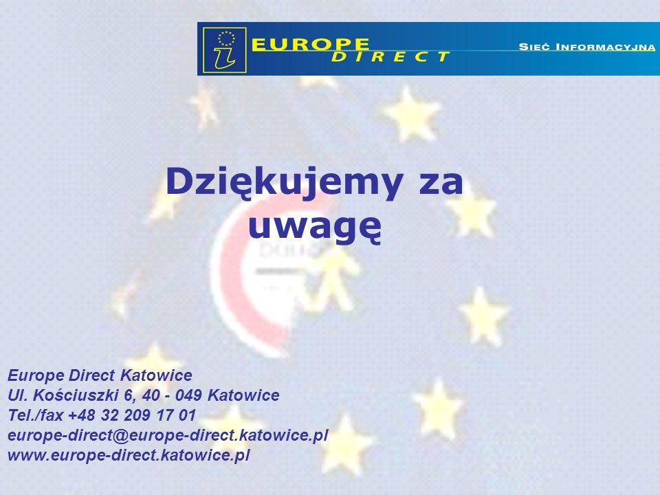 Dziękujemy za uwagę Europe Direct Katowice