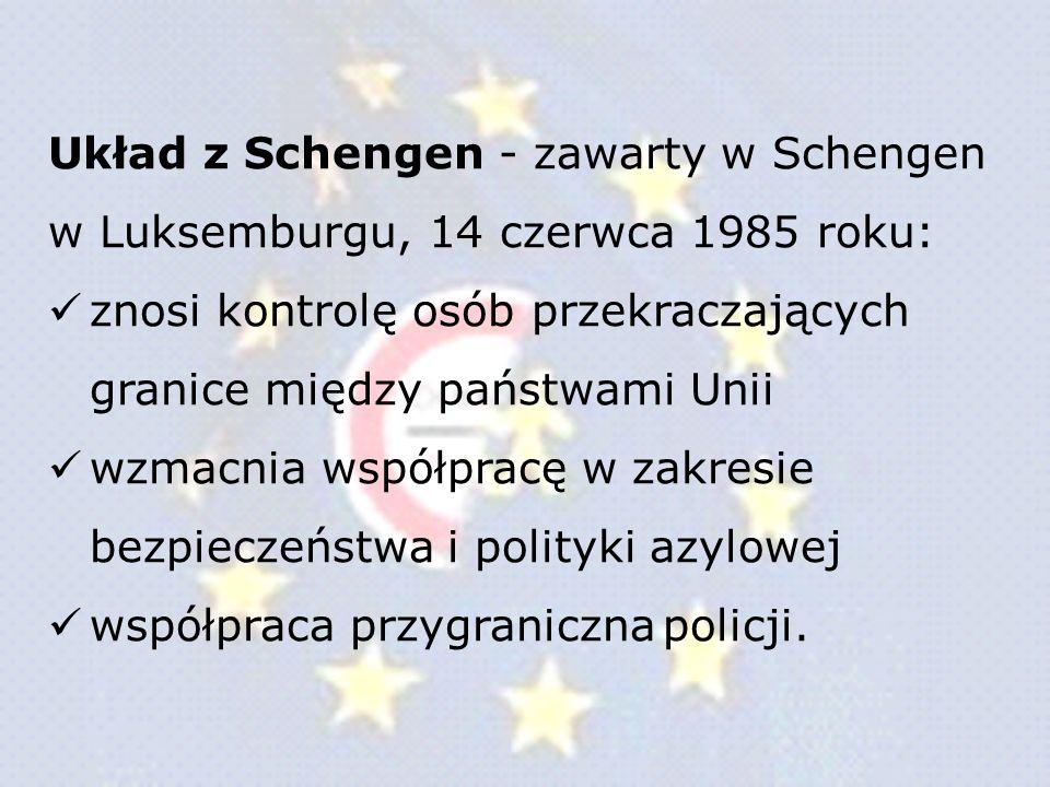 Układ z Schengen - zawarty w Schengen