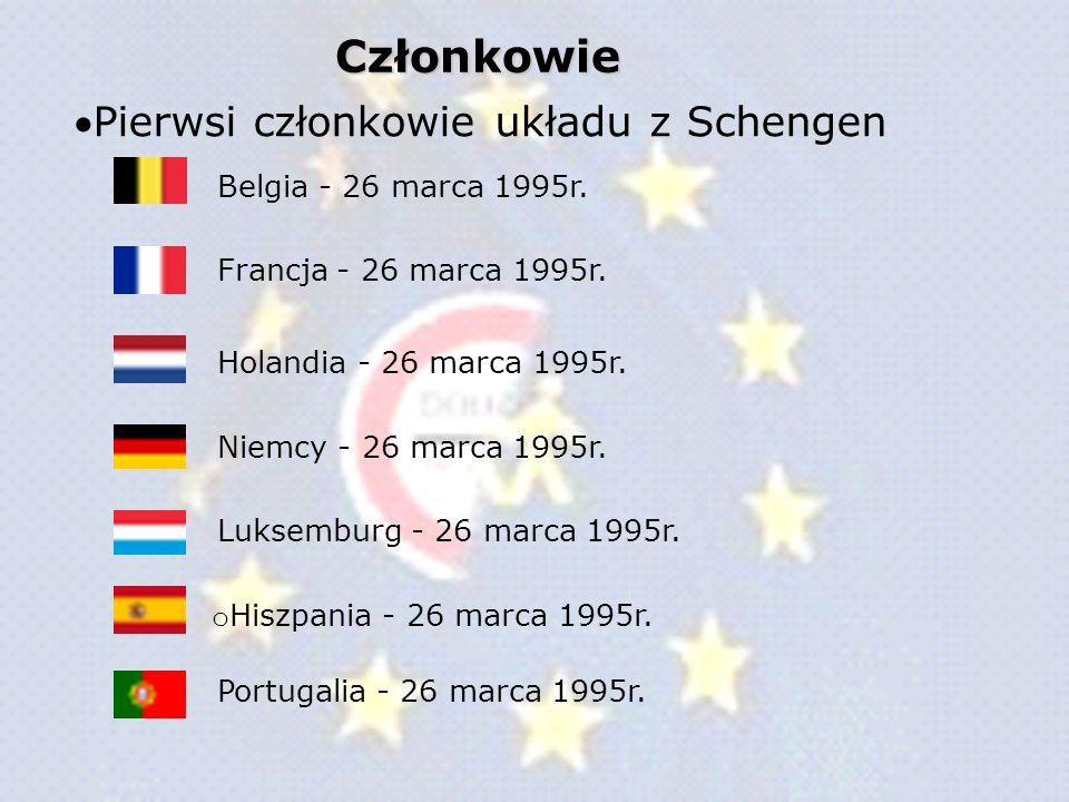 Członkowie Pierwsi członkowie układu z Schengen