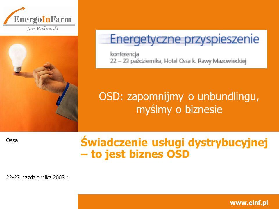 Świadczenie usługi dystrybucyjnej - biznes OSD