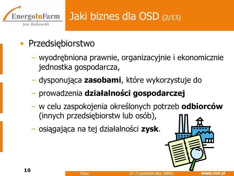 Jaki biznes dla OSD (2/13) Przedsiębiorstwo