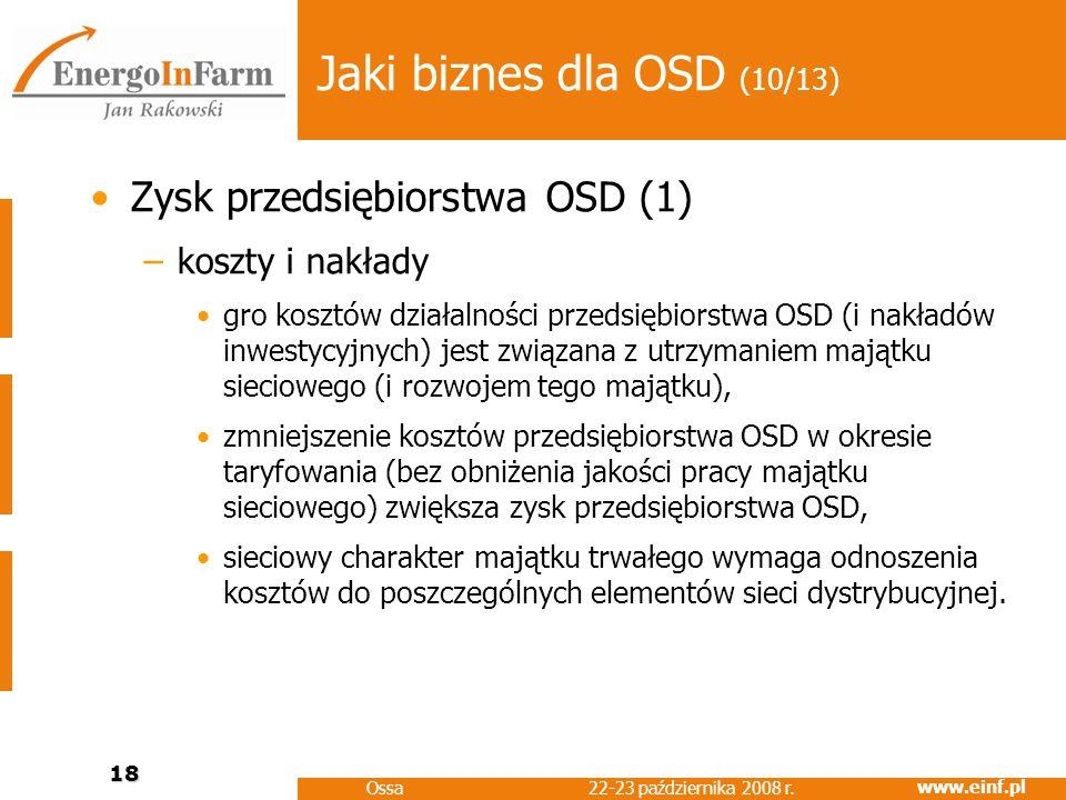 Jaki biznes dla OSD (10/13) Zysk przedsiębiorstwa OSD (1)