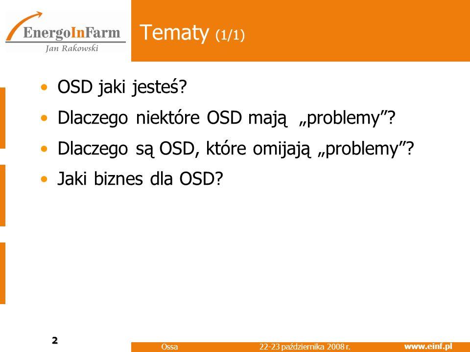"""Tematy (1/1) OSD jaki jesteś Dlaczego niektóre OSD mają """"problemy"""