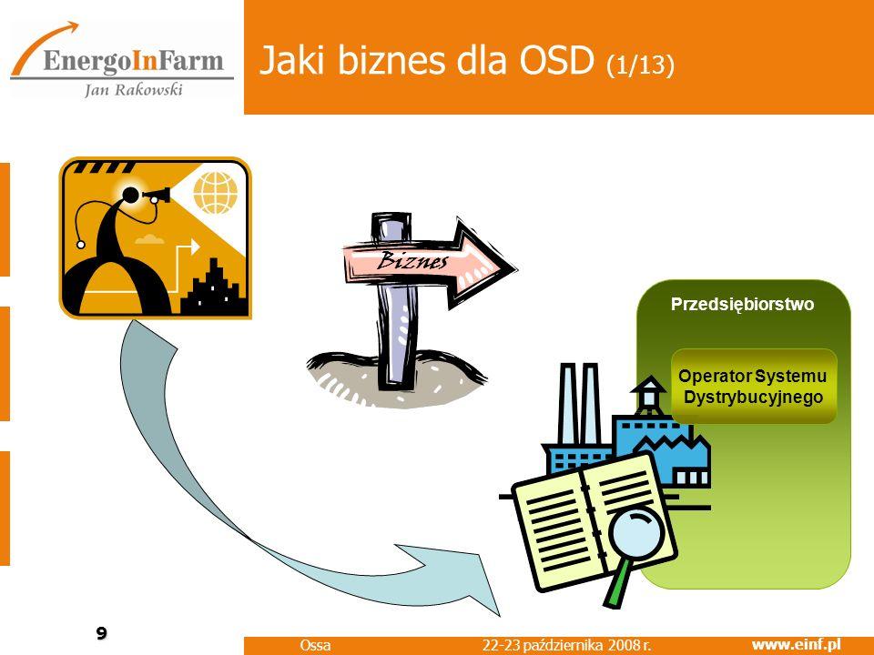 Jaki biznes dla OSD (1/13) Biznes Przedsiębiorstwo Operator Systemu