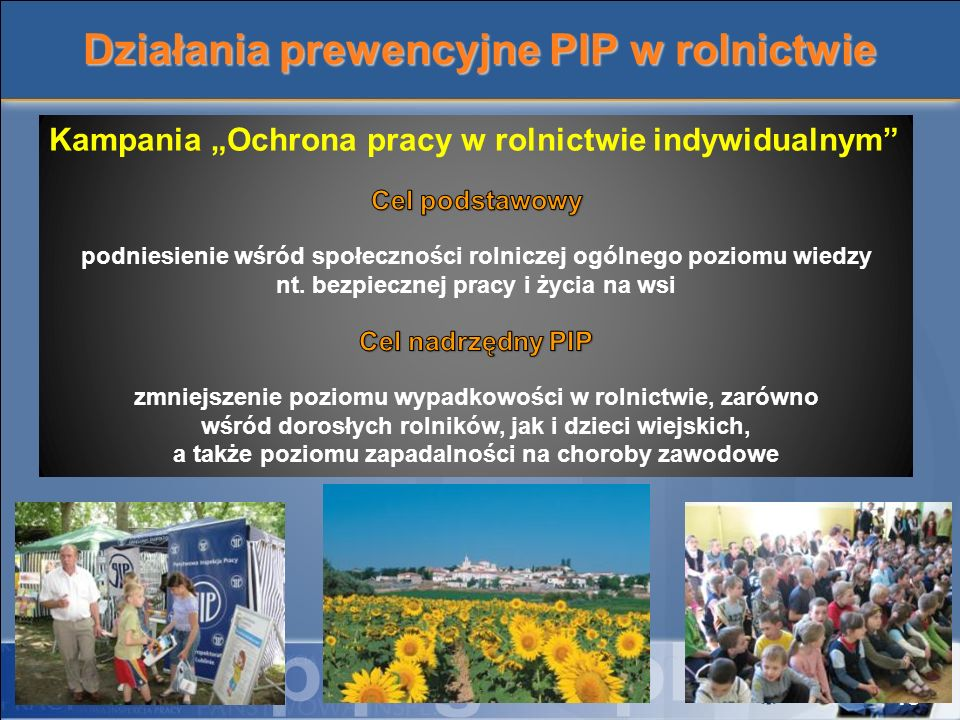 Działania prewencyjne PIP w rolnictwie