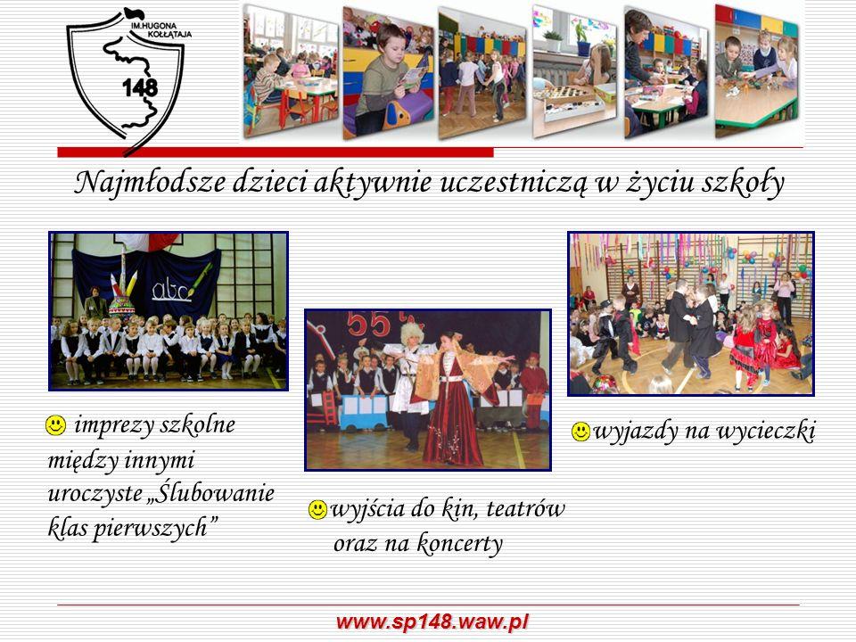 Najmłodsze dzieci aktywnie uczestniczą w życiu szkoły