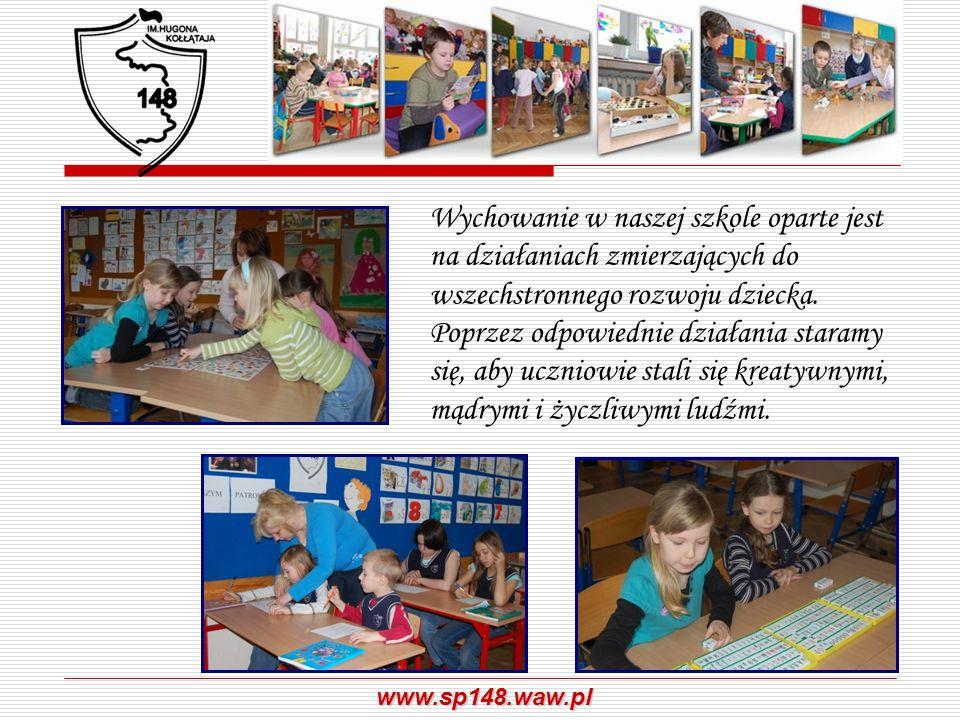 Wychowanie w naszej szkole oparte jest na działaniach zmierzających do wszechstronnego rozwoju dziecka.