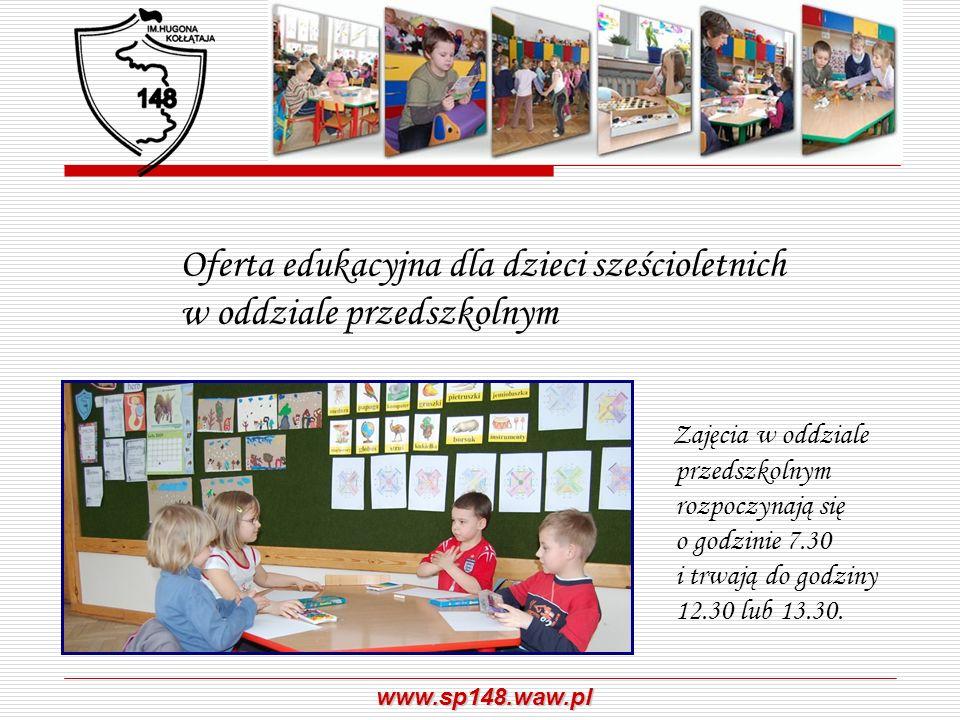 Oferta edukacyjna dla dzieci sześcioletnich w oddziale przedszkolnym