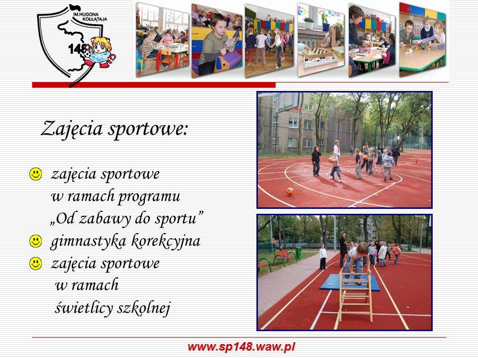 """Zajęcia sportowe:zajęcia sportowe w ramach programu """"Od zabawy do sportu gimnastyka korekcyjna."""