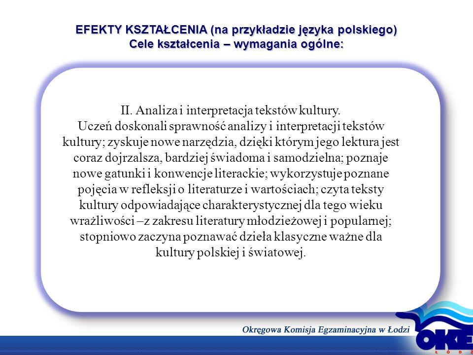II. Analiza i interpretacja tekstów kultury.