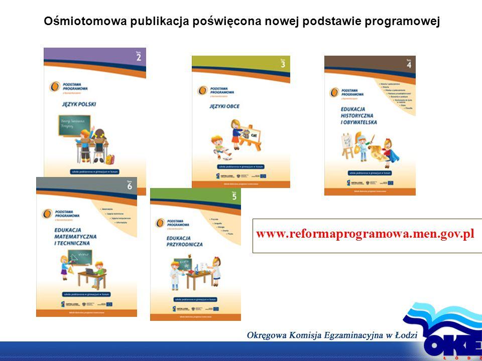 Ośmiotomowa publikacja poświęcona nowej podstawie programowej